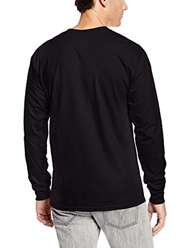 c5854bff50a7e Lyst - Hanes Long-sleeve Beefy-t Shirt (pack Of 2) in Black for Men - Save  30%