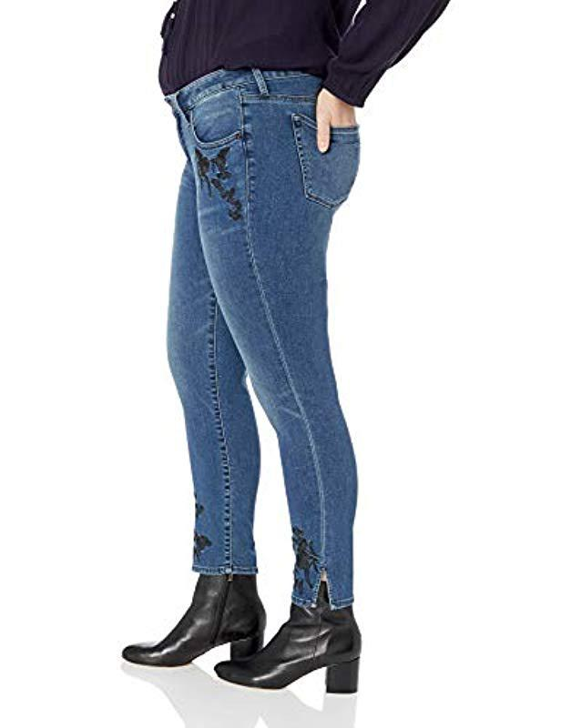 d9abad7115f46 Lyst - Lucky Brand Plus Size Mid Rise Embroidered Lolita Skinny Jean In  Gemini in Blue
