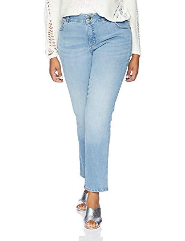 cedcb5a66e829 Lee Jeans. Women s Blue Plus Size Flex Motion Regular Fit Straight Leg Jean