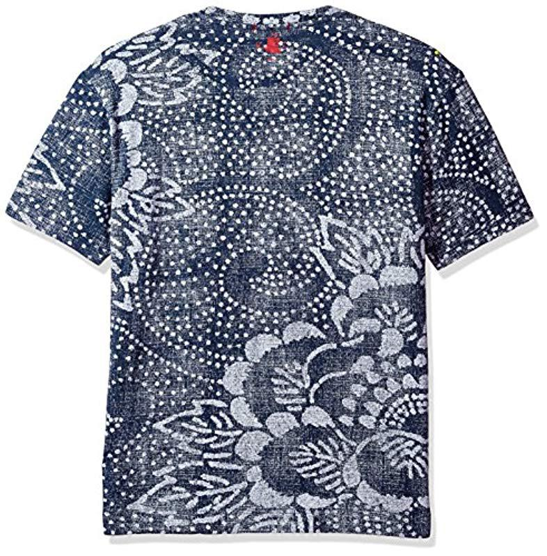 6f41c8e47df5 Robert Graham Batik Short Sleeve Knit Graphic Tshirt in Blue for Men ...
