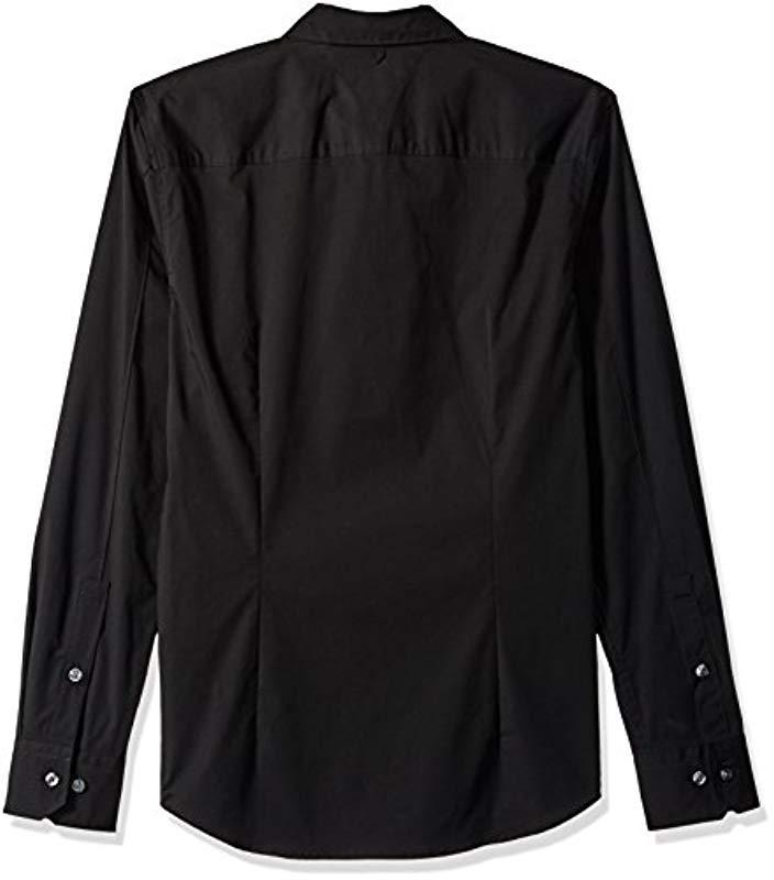 15b12108 Tommy Hilfiger - Black Button Down Shirt Original Stretch for Men - Lyst.  View fullscreen