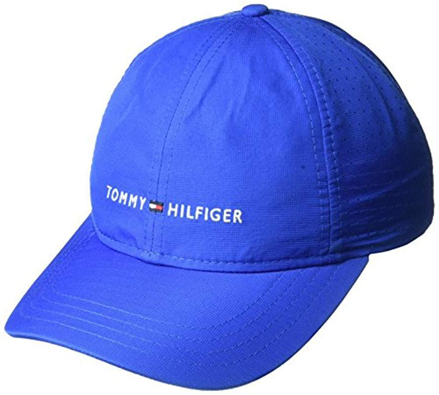 Lyst - Tommy Hilfiger Traditional Golf Hat in Blue for Men 5b21e4c8cbbb