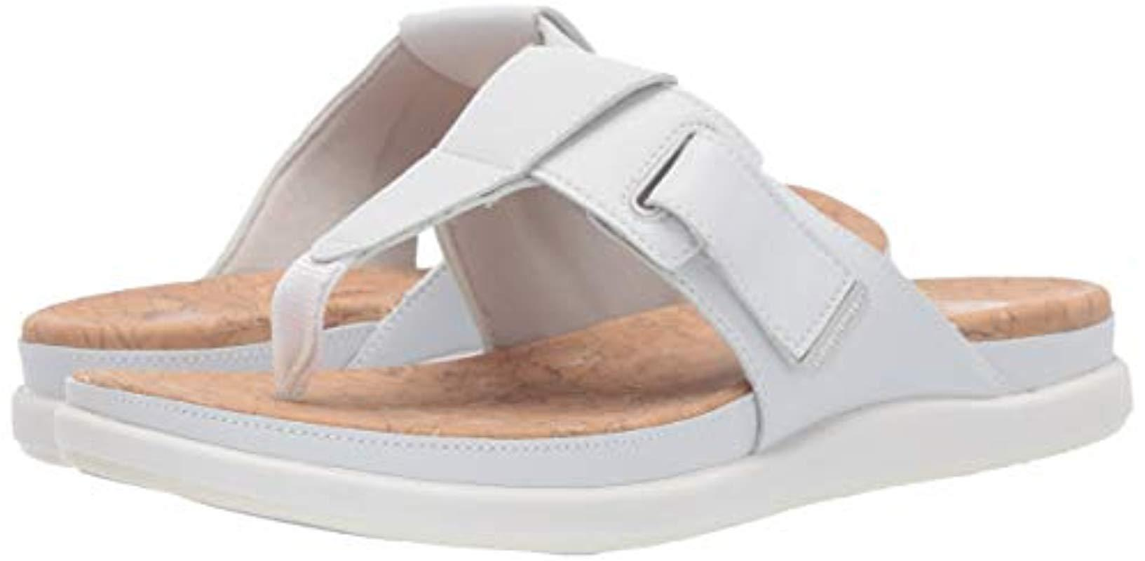 6c17e7935 Clarks Step June Reef Sandal in White - Save 19% - Lyst
