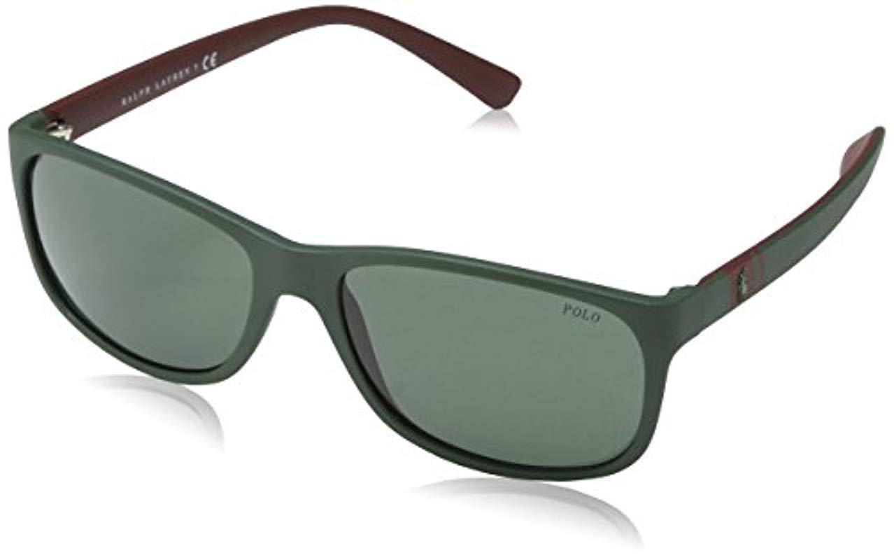 Polo Ralph Lauren Mens 0PH4109 Rectangular Sunglasses