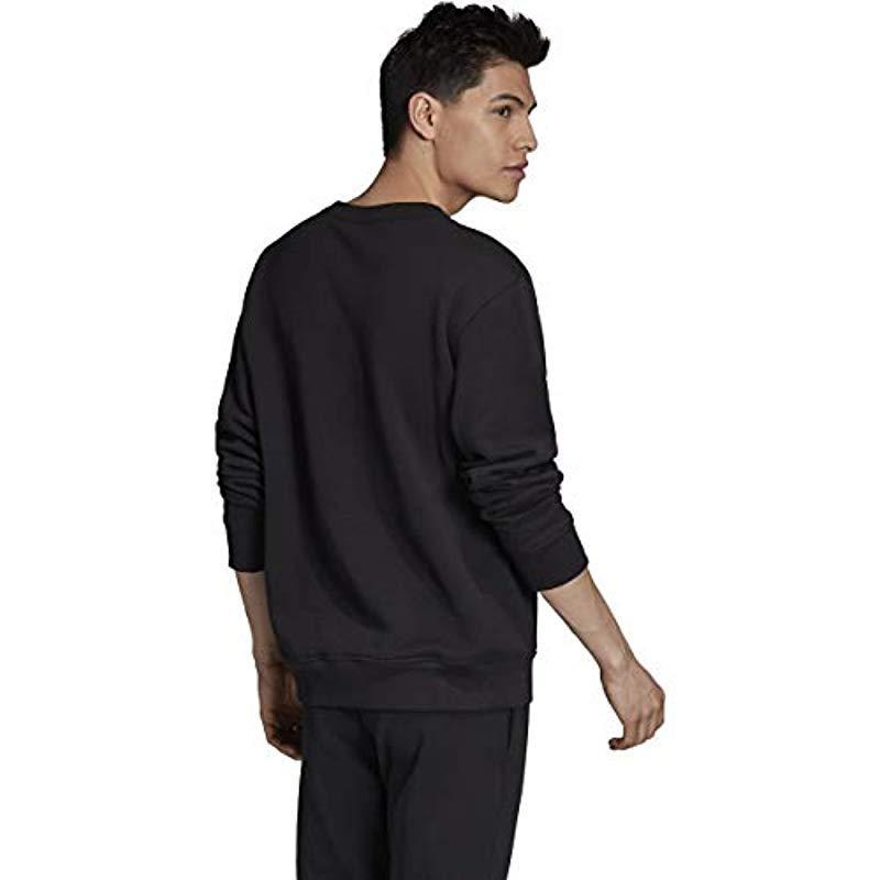 VOCAL SWEAT Round neck cotton sweatshirt Black