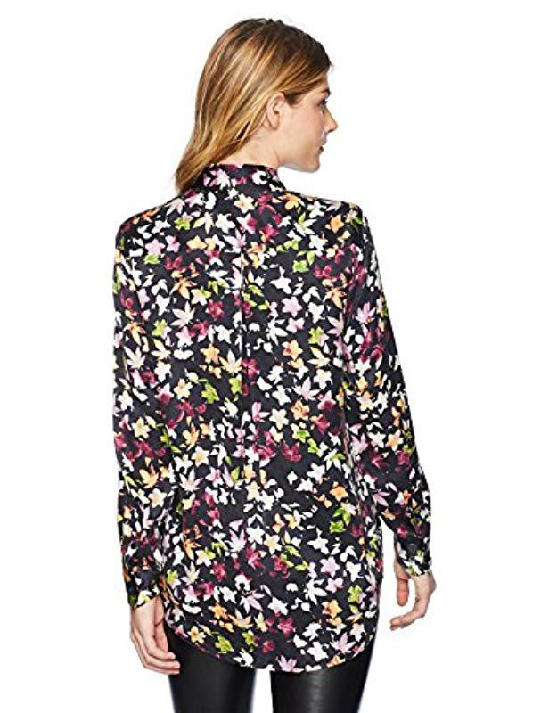 c44a6b422d7894 Lyst - Equipment Floral Exposure Printed Essential Blouse in Black - Save  44%