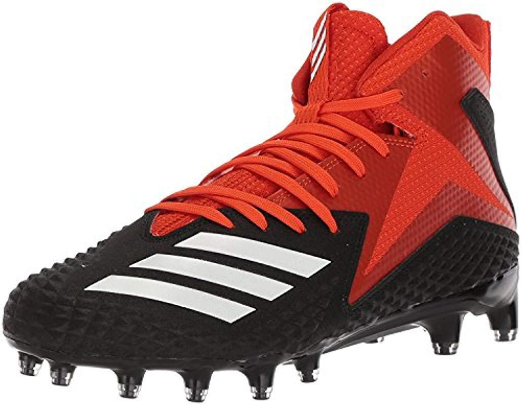 adidas. Men s Freak X Carbon Mid Football Shoe Core Black white collegiate  ... 40ca5870f