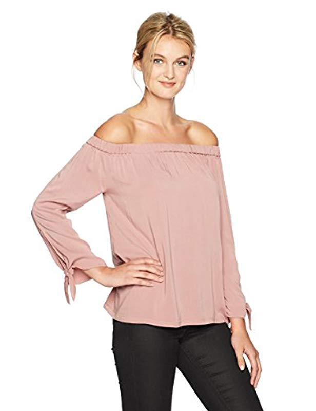 ebd339094ba Lyst - Michael Stars Rylie Rayon Tie Sleeve Top in Pink - Save 82%