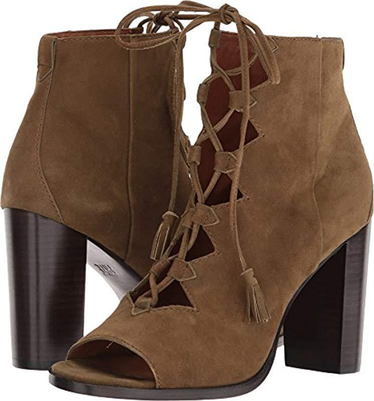 458afa0c799 Lyst - Frye Gabby Ghillie Dress Sandal - Save 18%