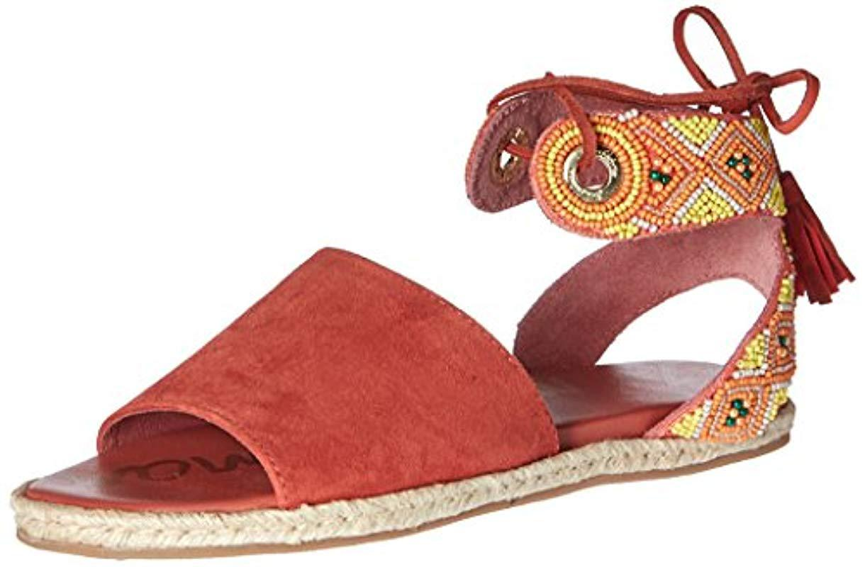 f5694ec9f54d Lyst - Sam Edelman Shae Flat Sandal in Red - Save 7%