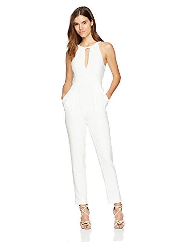 4504537c734c Lyst - BCBGMAXAZRIA Hailee Open-back Jumpsuit in White