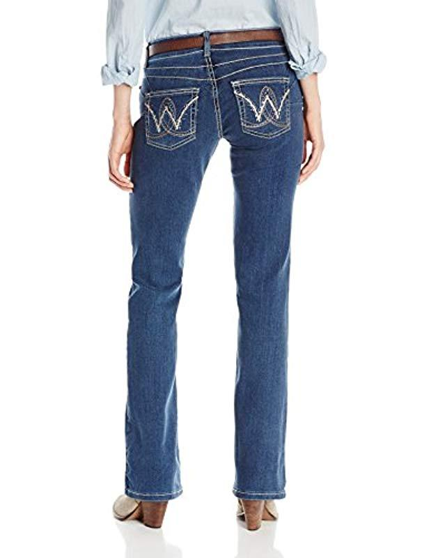 611491c3 Wrangler - Blue Premium Patch Booty Up Technology Sits Above Hip Jeans -  Lyst. View fullscreen