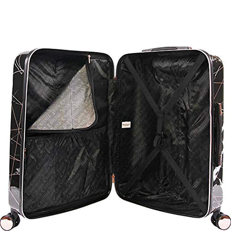 41958ac1d6d5 Juicy Couture Vivian 3 Piece Hardside Spinner Luggage Set in Black ...