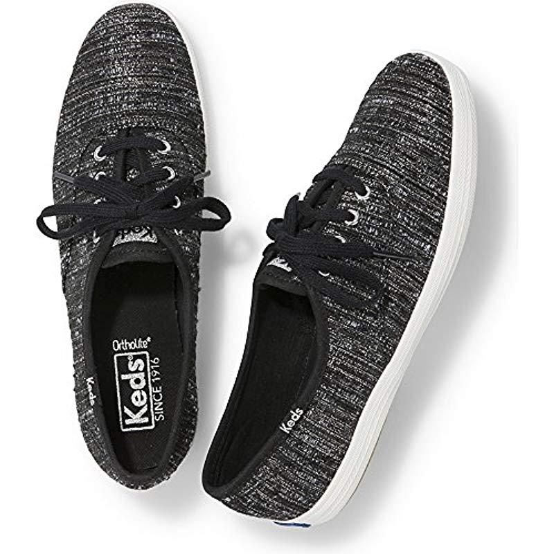 796f705b30951 Keds - Black Champion Lurex Stripe Fashion Sneaker - Lyst. View fullscreen