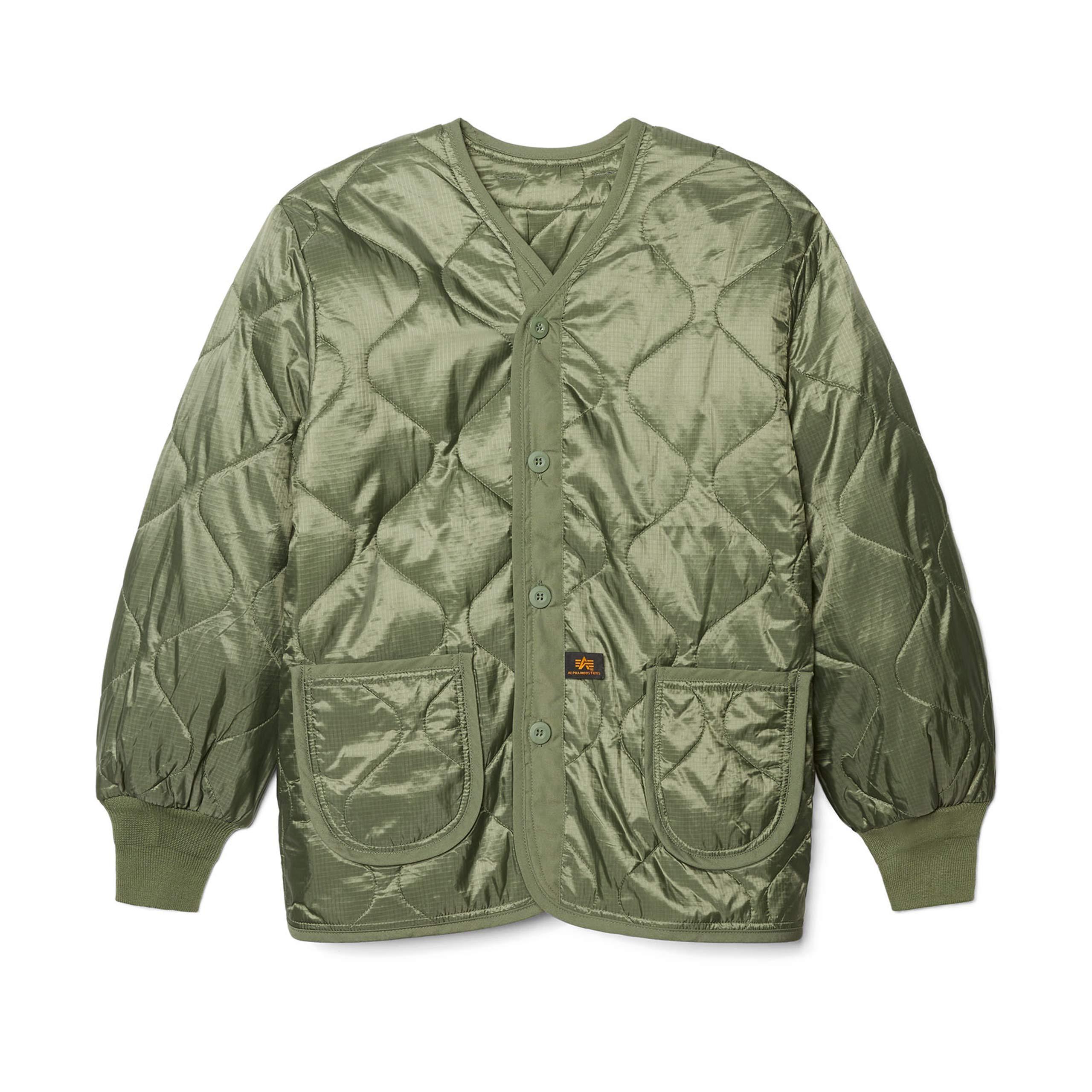 Alpha Industries Mens Als//92 Mid Length Zip Liner Jacket with Pockets