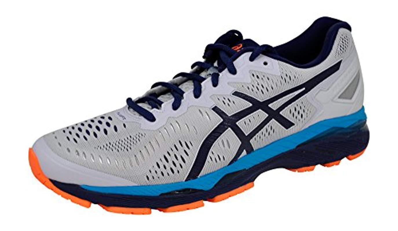 sneakers for cheap c32aa 63b94 Men's S Gel-kayano 23 Running Shoe, White/blue/orange, 9 D(m) Us