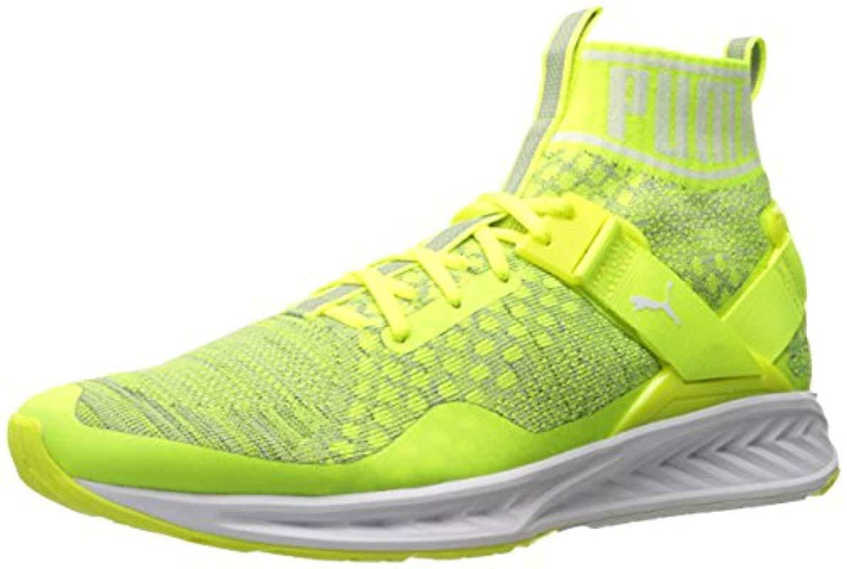 4f2aa5386693 Lyst - PUMA Ignite Evoknit Cross-trainer Shoe in Yellow for Men ...
