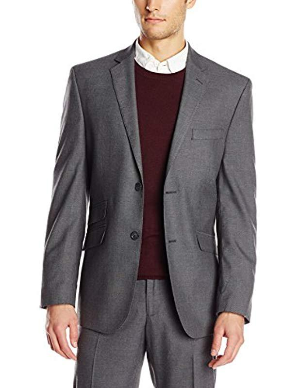 Lyst - Perry Ellis Grey Shark Skin 2 Button Side Vent Suit Separate ... 61dbcd134