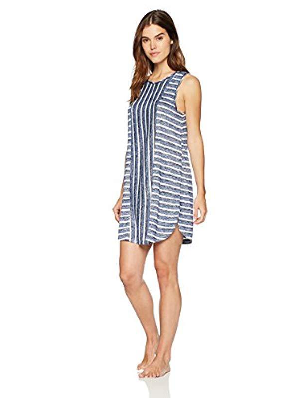 09bb915ff0 Lyst - Kensie Striped Night Dress in Blue - Save 52%