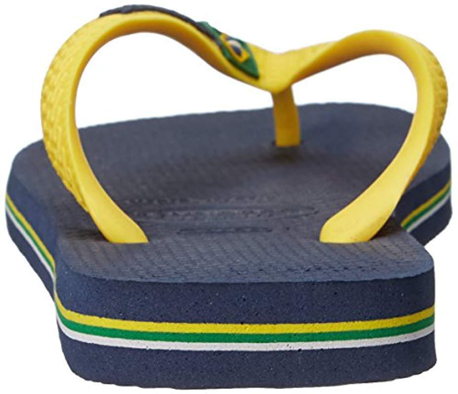 92bbff0e6296b5 Lyst - Havaianas Brazil Mix Flip Flop Sandals in Blue for Men
