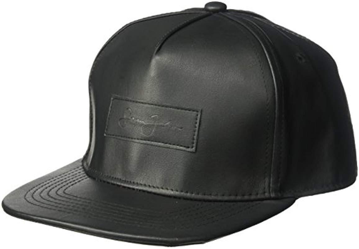 Lyst - Sean John Textured Pebble Pu Baseball Cap With Patch 378669916532