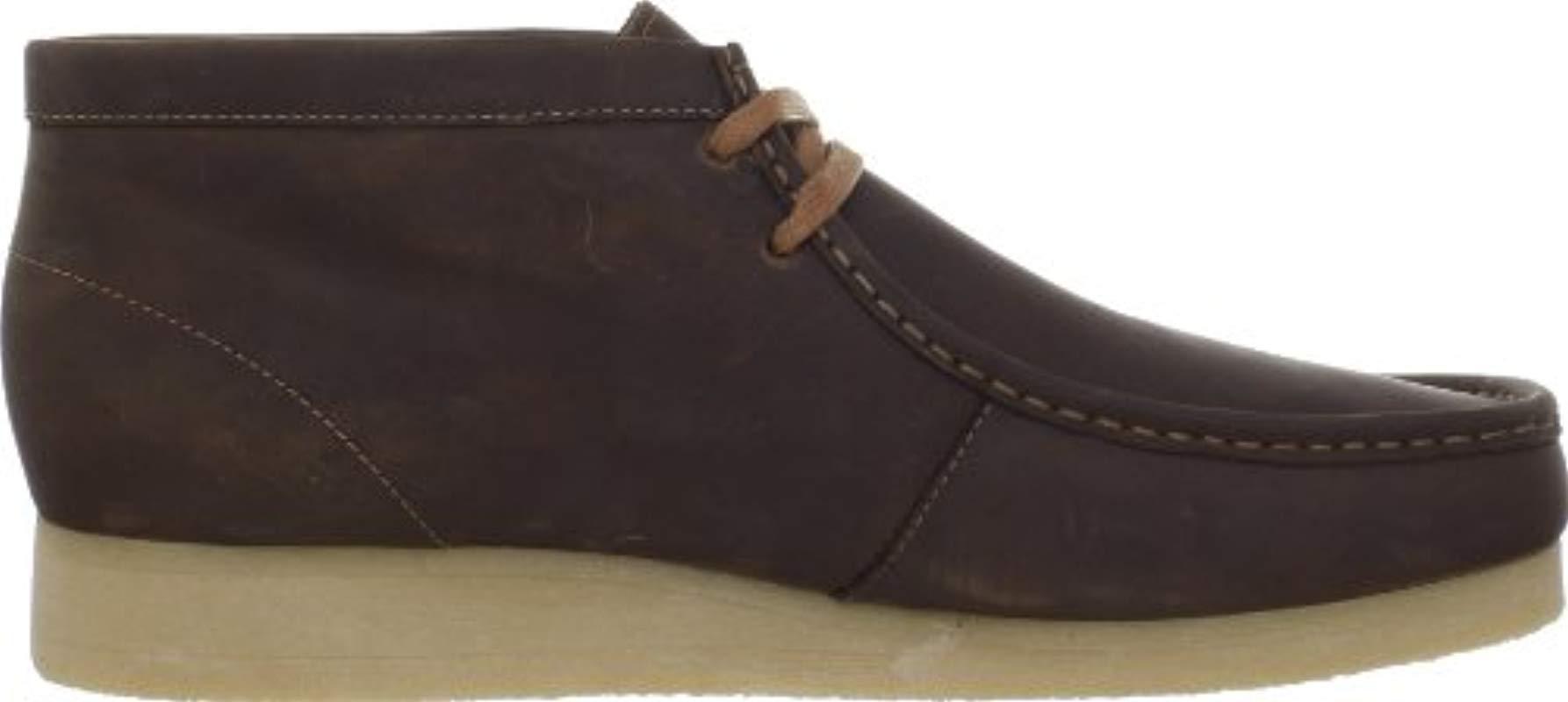 9910c8c46972aa Clarks - Brown Stinson Hi Chukka Boot