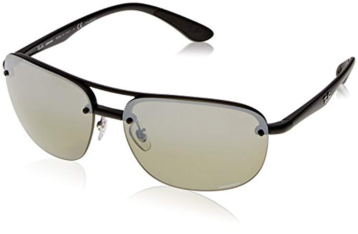 60b5da415c4 Lyst - Ray-Ban Rb4275ch Chromance Lens Square Sunglasses in Black ...