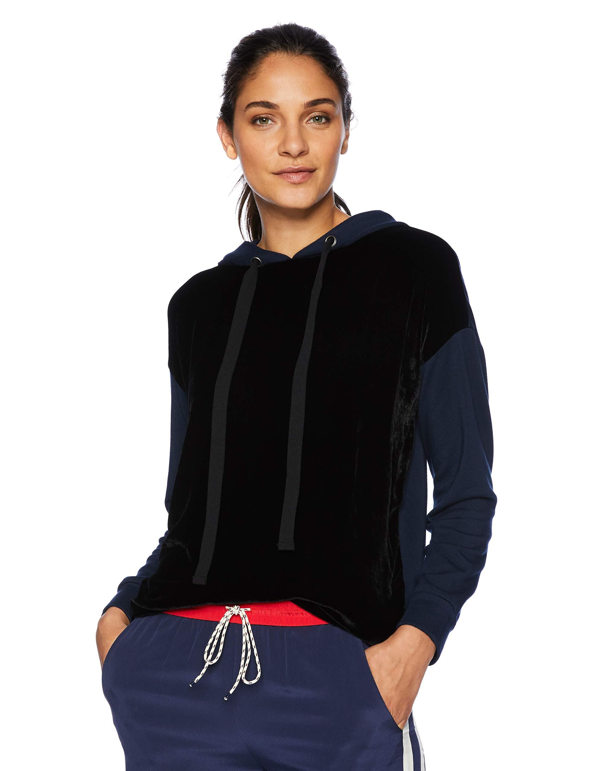 Velvet by Graham /& Spencer Womens Fleece Cropped Hoodie