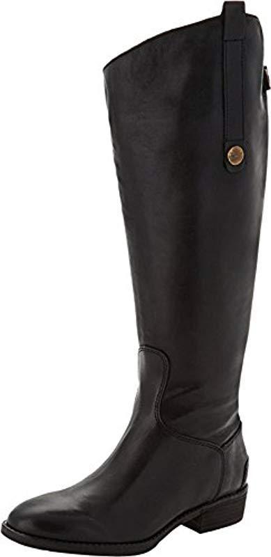 18fb29dee37ad Lyst - Sam Edelman Penny 2 Equestrian Boot in Black - Save 1%