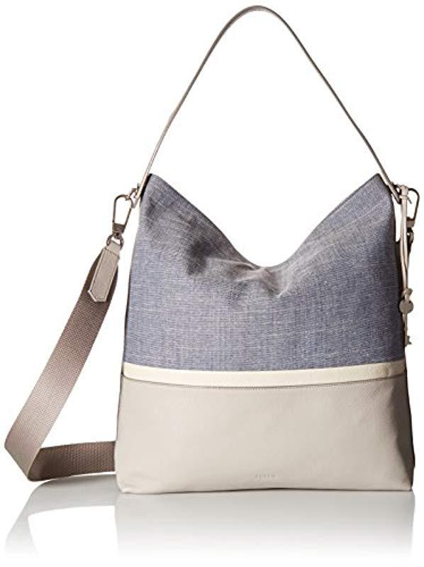 7bddfeacb602 Lyst - Fossil Maya Large Hobo Handbag - Save 20%