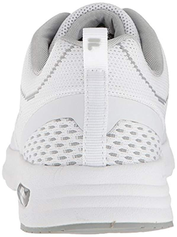 709cfed463b3 Fila - White Memory Chelsea Knit Running Shoe - Lyst. View fullscreen