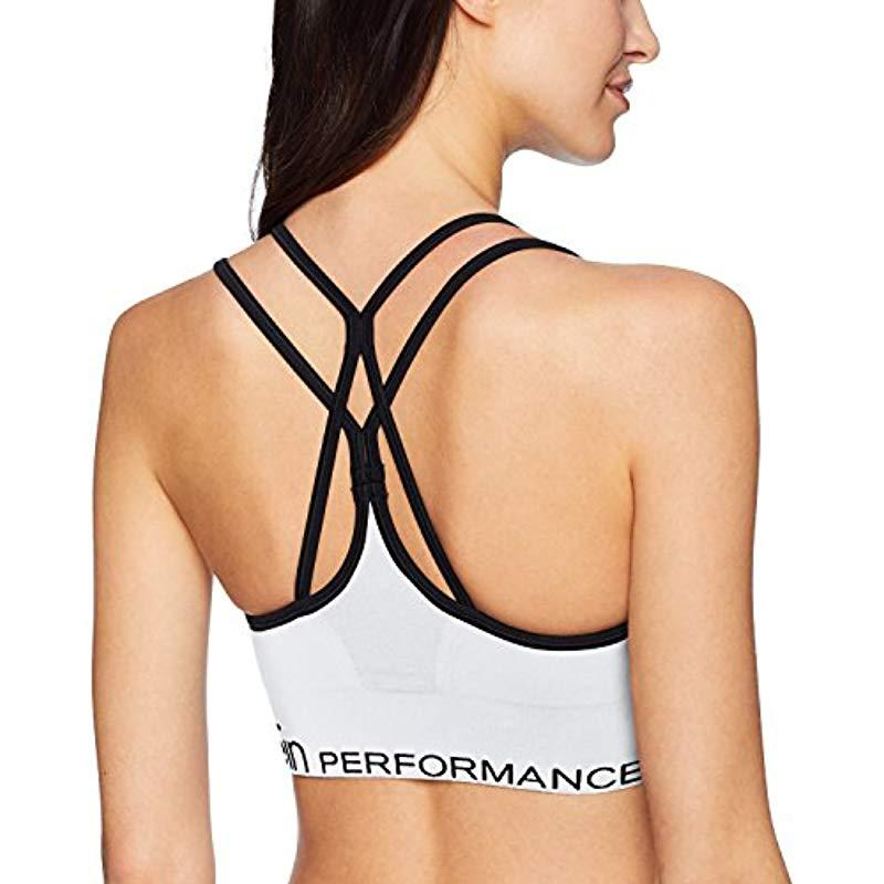 172361ca949 Calvin Klein - White Performance Low Impact Ruched Front Strappy Sports -  Lyst. View fullscreen