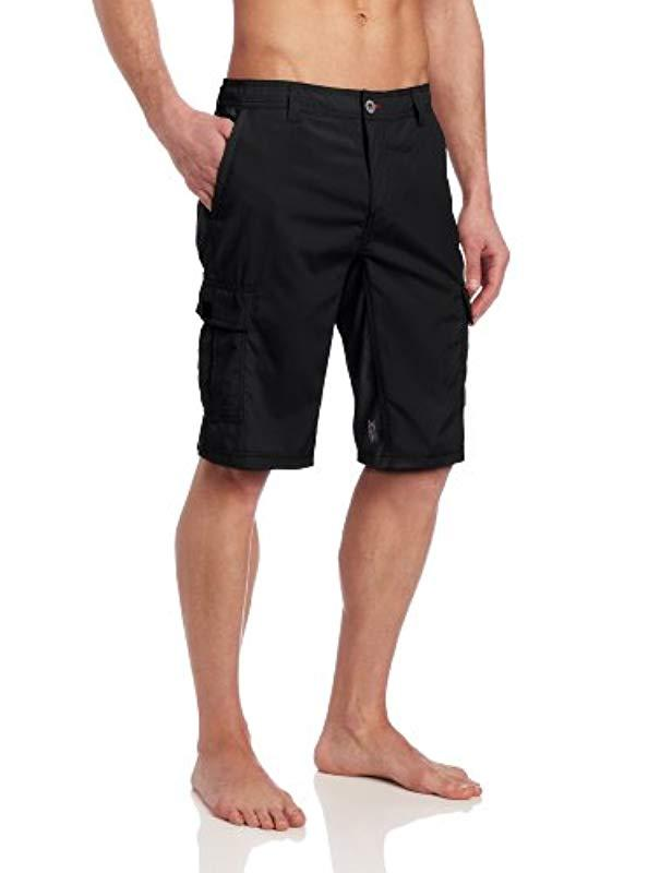 80b3f561eb O'neill Sportswear. Men's Black 21 Inch Outseam Cargo Pocket Hybrid Stretch  Walk Short
