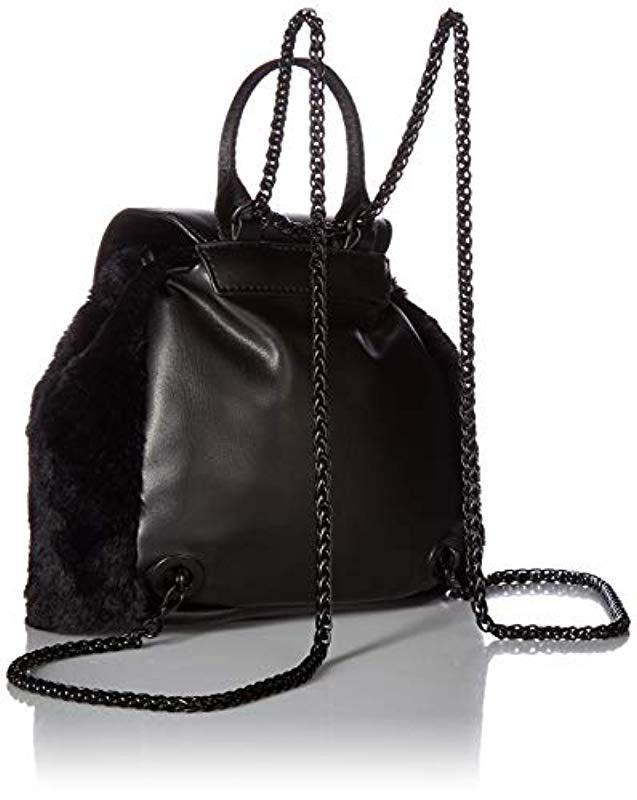 e94815db4e Lyst - Kendall + Kylie Poppy-black Faux Fur in Black