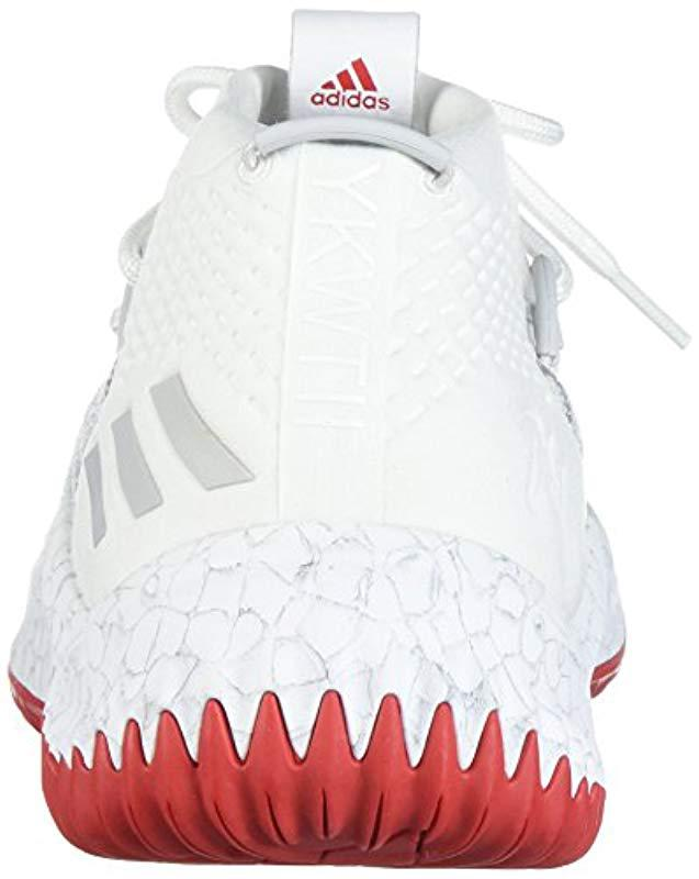 low priced 4e4d4 a1539 Lyst - adidas Dame 4 Shoe Basketball in White for Men - Save  6.0869565217391255%