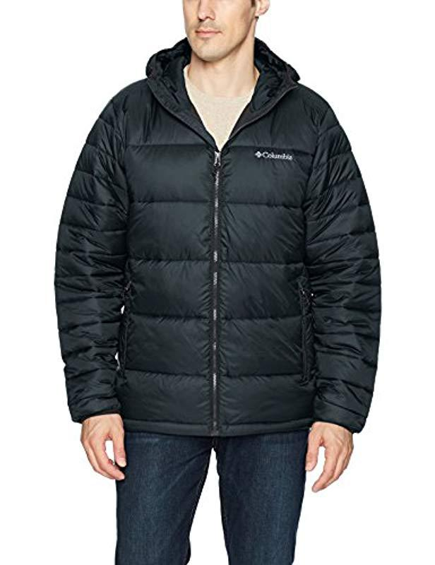 Columbia Frost Fighter Hooded Puffer Jacket in Black for ...