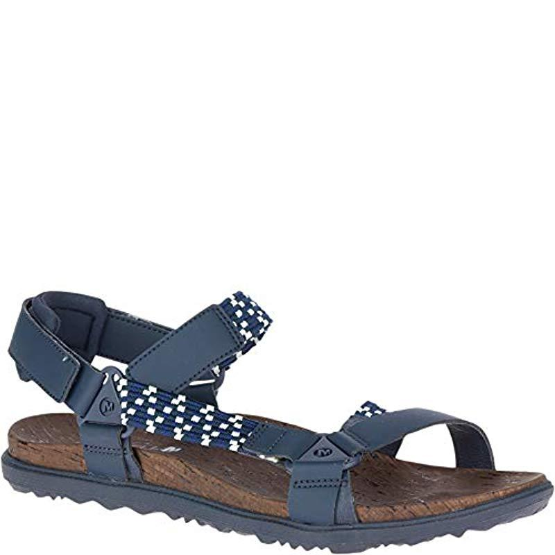 32fb514d6 Lyst - Merrell Around Town Sunvue Woven Sandal in Blue - Save 1.25%