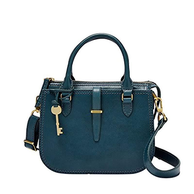 Fossil Blue Ryder Mini Satchel Handbag Lyst View Fullscreen