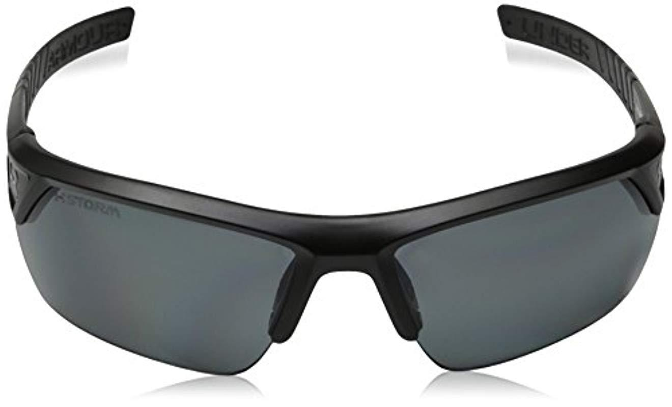 4d8a3a6635f0c Under Armour - Black Ua Igniter 2.0 Storm Polarized Sunglasses for Men -  Lyst. View fullscreen