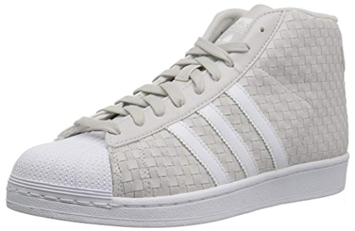 on sale 27b63 f87a1 adidas Originals. Mens Gray Pro Model Running Shoe ...