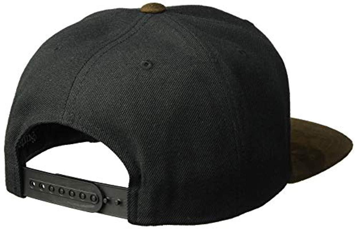 ba7304d192a Brixton - Black Oath Iii Medium Profile Adjustable Snapback Hat for Men -  Lyst. View fullscreen