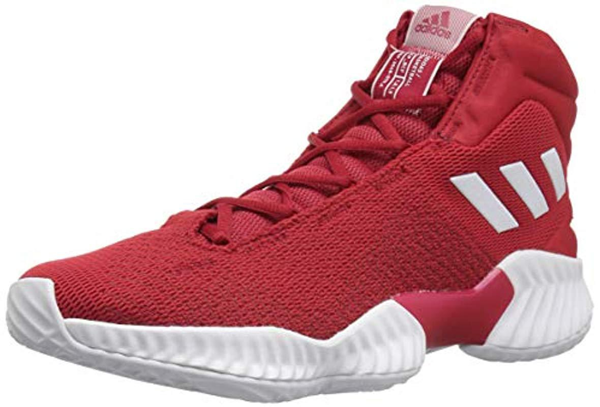 760245052 Lyst - adidas Originals Pro Bounce 2018 Basketball Shoe in Red for ...
