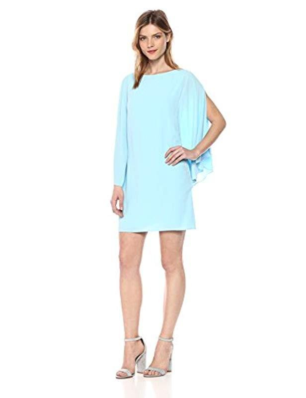 Lyst Kensie Batwing Cocktail Dress In Blue