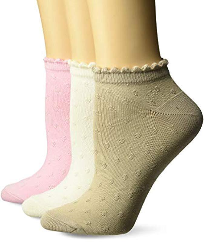 fa10235499a Lyst - Hanes Comfortsoft Low Cut Socks 3-pack in Green