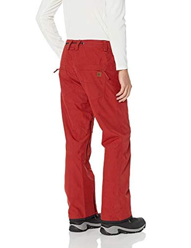 d3c5975df6dea Lyst - Quiksilver S Forest Oak - Shell Snow Pants For Snow Pants in Red for  Men