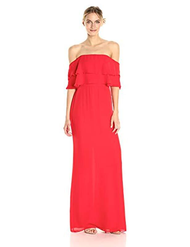 7b6a8dae6bd Lyst - Parker Helen Dress in Red - Save 32%
