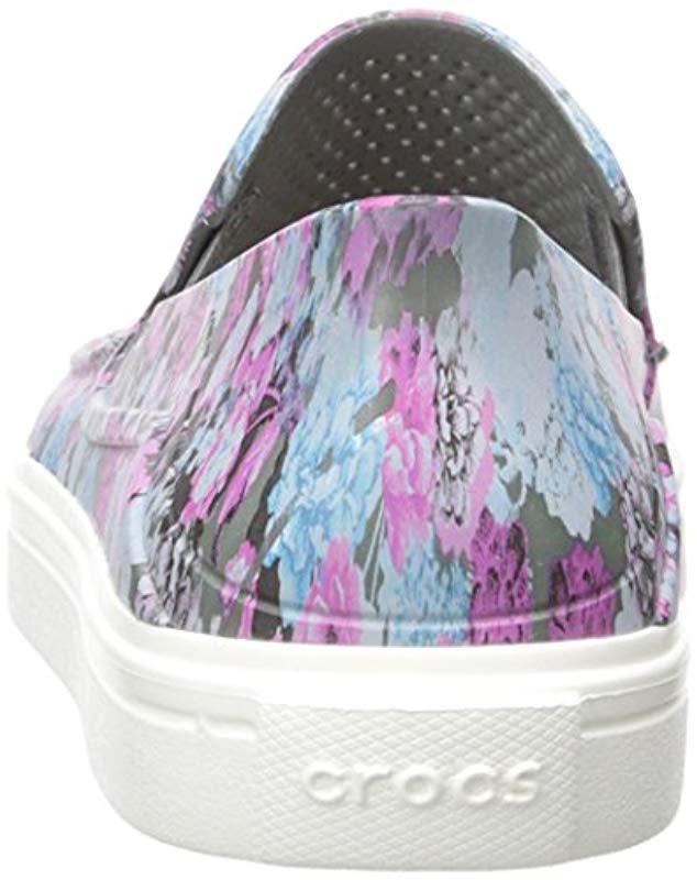 9d0240303a Lyst - Crocs™ Citilane Roka Graphic Slipon W Flat