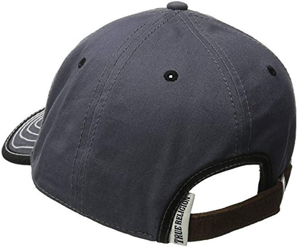 349d1b44aece0 True Religion - Gray Puff Shoe Baseball Cap for Men - Lyst. View fullscreen