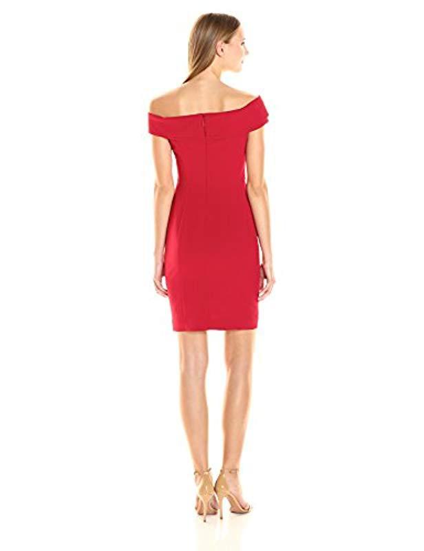 775577e8 Lyst - Black Halo Soto Sheath Dress in Red