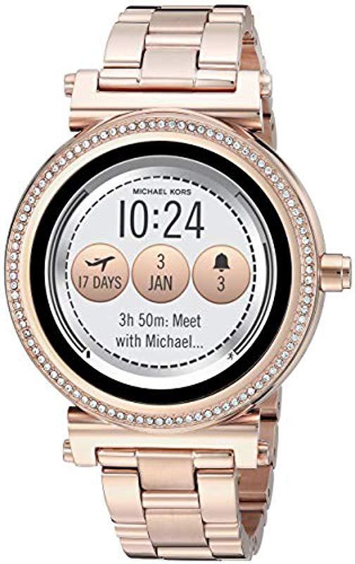 Mk smartwatch rose gold